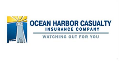 """Ocean Harbor Casualty Insurance Company Logo. Tagline is """"Watching out for you"""""""
