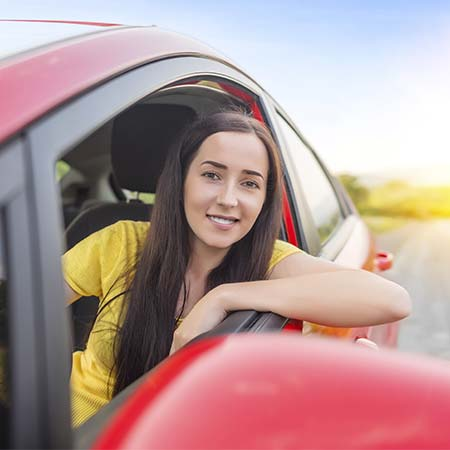 Woman with Auto Insurance